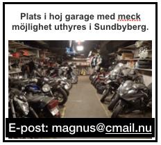 Plats i hojgarage med meckmöjligheter i Sundbyberg